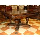 Антикварная столовая группа в стиле Henry II (обеденный стол и 6 стульев)