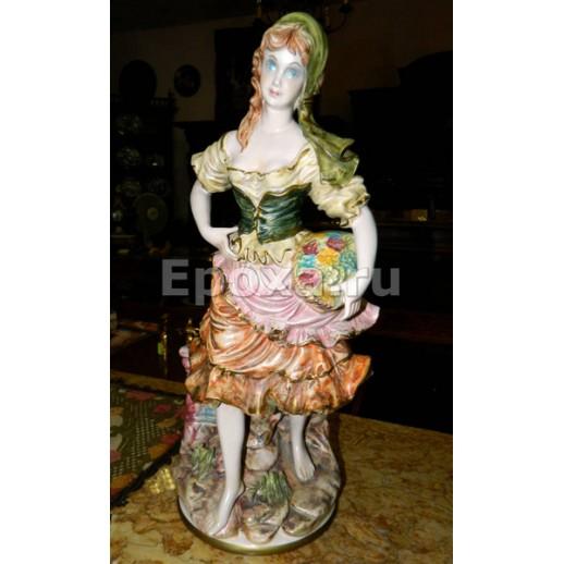 """Статуэка """"Девушка с цветами"""", Capo Di Monte"""