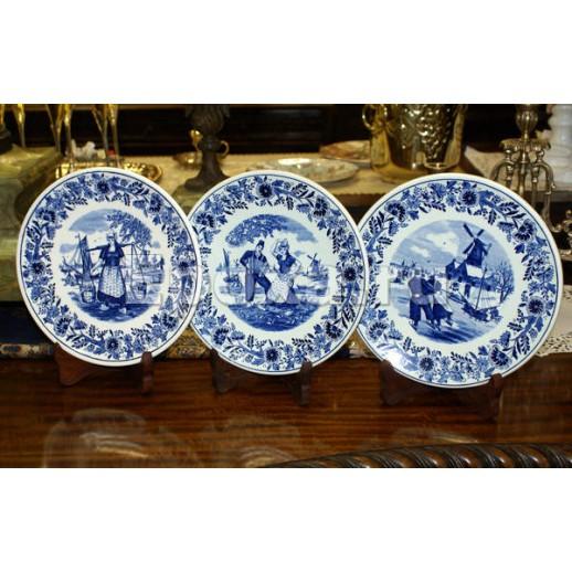 "Декоративные тарелки Petrus Regout ""Blauw Delft"""