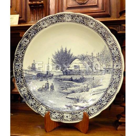 """Большая декоративная тарелка """"Delft"""""""