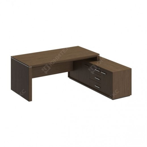 VELAR - Стол руководителя правый на опорной тумбе