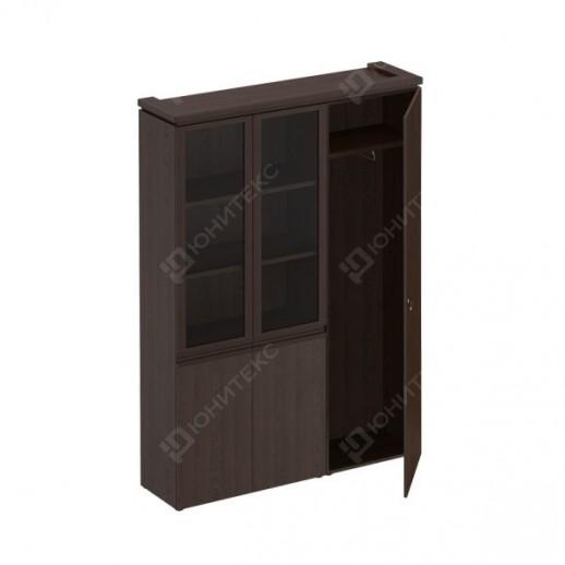 MARK - Шкаф комбинированный (со стеклом + для одежды узкий)