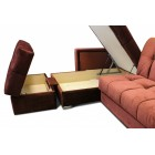 Угловой диван Оскар П-образный с полкой
