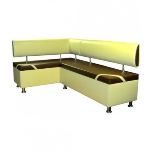 Кухонный угловой диван с двумя ящиками.