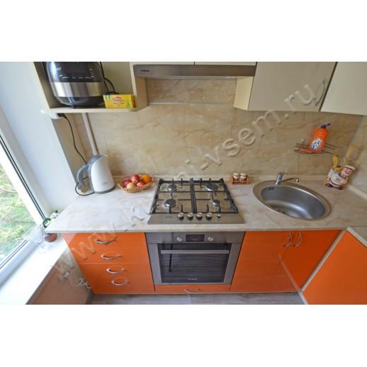Маленькая угловая кухня АЛВИК ЛЮКС с фасадами МДФ-ЛАК