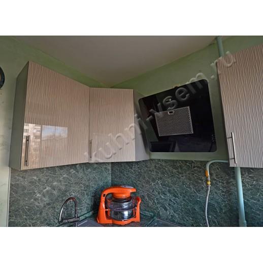 Угловая кухня АЛВИК ЛЮКС с фасадами из МДФ+УФ лак