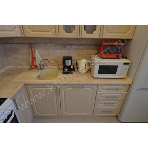 Угловая кухня из МДФ в пленке ПВХ цвета «Дуб Лисса»