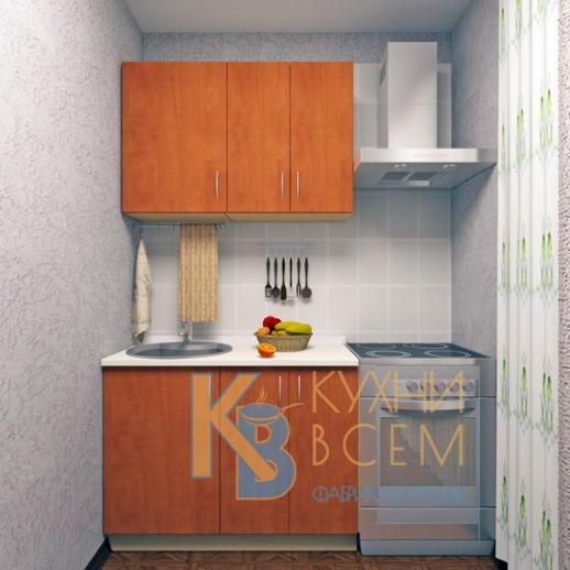 Готовый комплект кухни 1,1 пог. метра, ЛДСП, цвет Яблоня Локарно