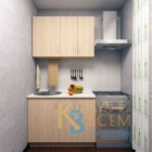 Готовый комплект кухни 1,1 пог. метра, ЛДСП, цвет Дуб молочный