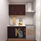 Готовый комплект кухни 1,1 пог. метра, ЛДСП, цвет Дуб Венге