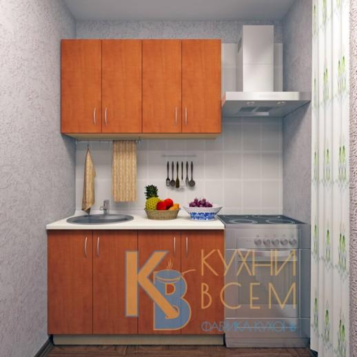 Готовый комплект кухни 1,2 пог. метра, ЛДСП, цвет Яблоня Локарно