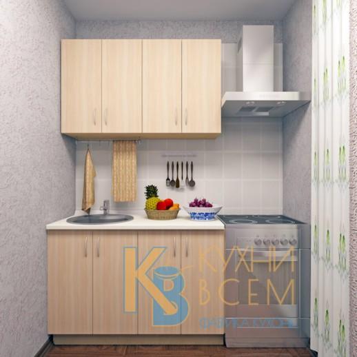 Готовый комплект кухни 1,2 пог. метра, ЛДСП, цвет Дуб молочный