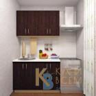 Готовый комплект кухни 1,2 пог. метра, ЛДСП, цвет Дуб Венге