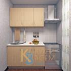 Готовый комплект кухни 1,3 пог. метра, ЛДСП, цвет Клен