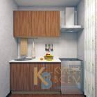 Готовый комплект кухни 1,3 пог. метра, ЛДСП, цвет Ясень Шимо темный