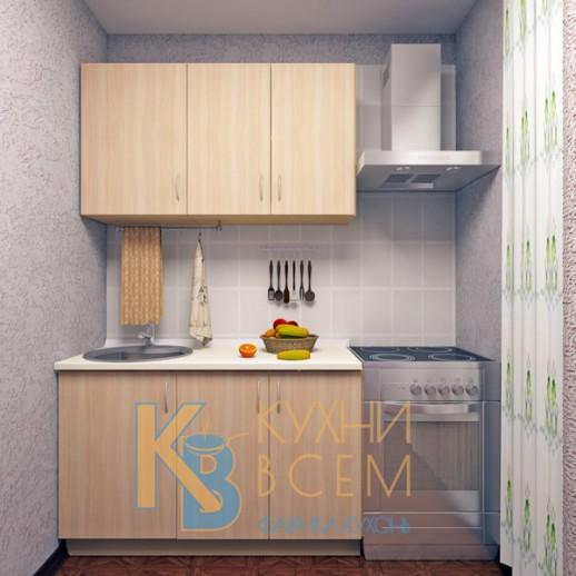 Готовый комплект кухни 1,3 пог. метра, ЛДСП, цвет Дуб молочный