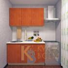 Готовый комплект кухни 1,4 пог. метра, ЛДСП, цвет Яблоня Локарно