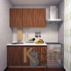Готовый комплект кухни 1,4 пог. метра, ЛДСП, цвет Ясень Шимо темный