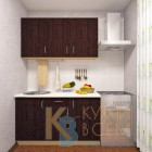 Готовый комплект кухни 1,4 пог. метра, ЛДСП, цвет Дуб Венге