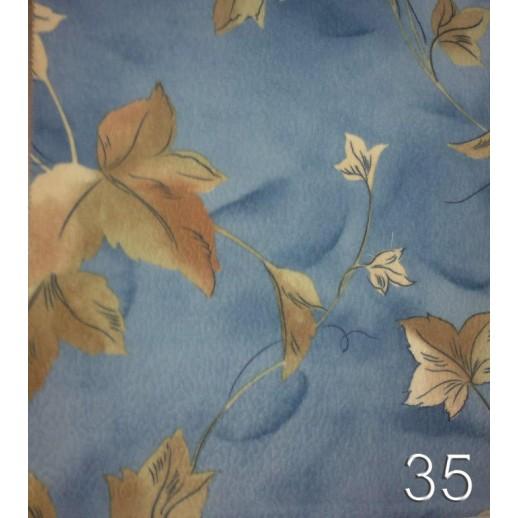 Кресло кровать голубой фон с листьями