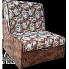 Кресло кровать без подлокотников в замше со склада