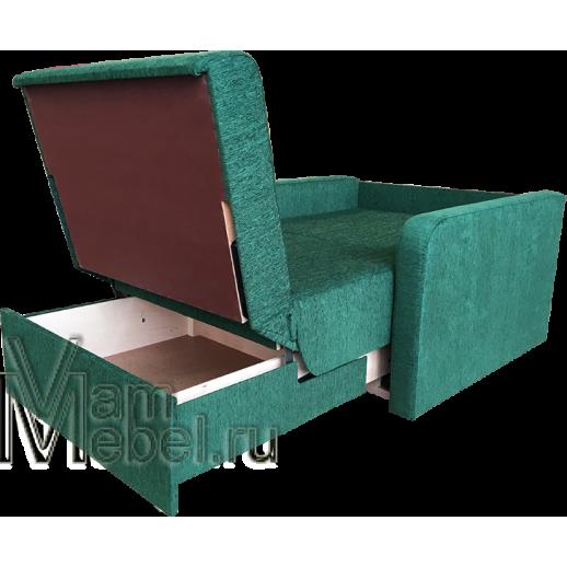 Кресло кровать Эконом 80 зеленый шенилл
