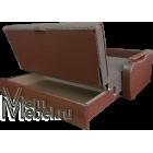 Диван аккордеон Виктория с деревянными подлокотниками