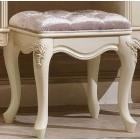 """Банкетка из дерева """"Милано"""" МК-1807 ( цвет слоновая кость. велюр)"""