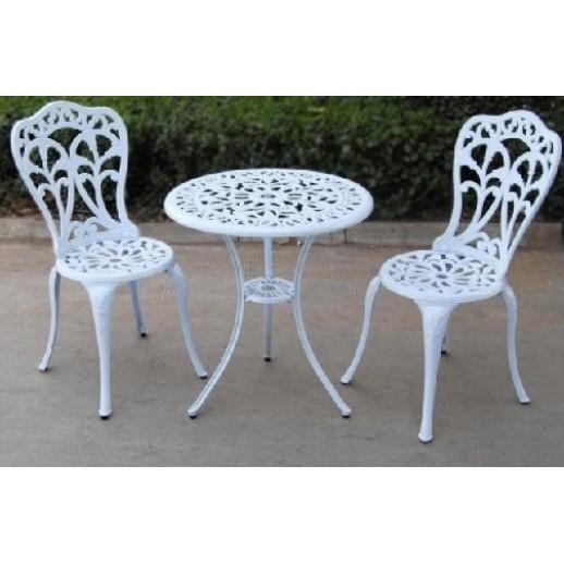 "Комплект мебели из металла ""Цветы"" (белый) (1+2)"
