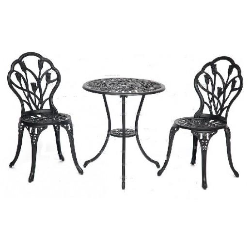 """Комплект мебели из металла """"Цветы"""" (черный) (1+2)"""