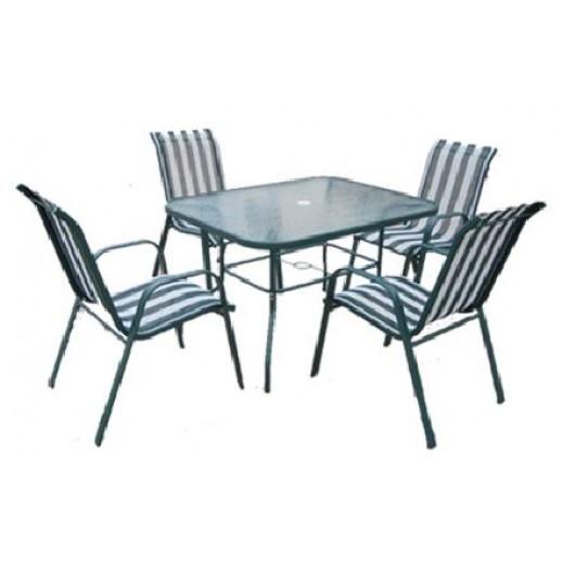 "Комплект обеденной мебели из металла и текстилена ""Парма-3"""