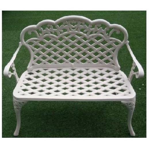 Диван из металла,чугунного литья арт. 0868(белый с подушкой)