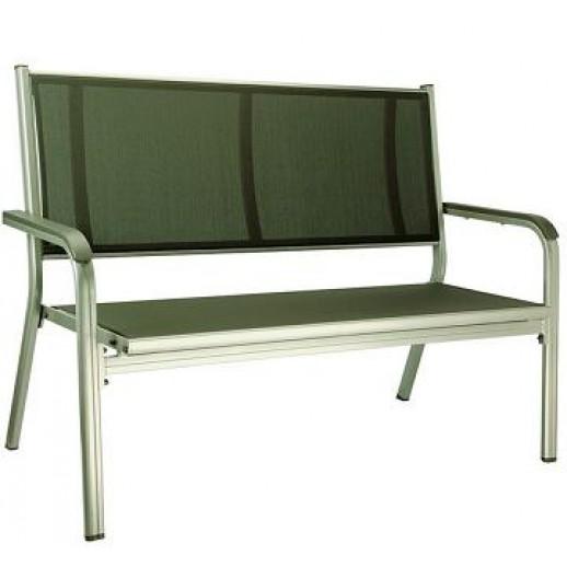 Скамейка из металла Basic Plus арт.301211-ХХХХ (серебро-антрацит)