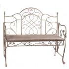 Скамейка из металла и дерева арт.0505 (состаренная)