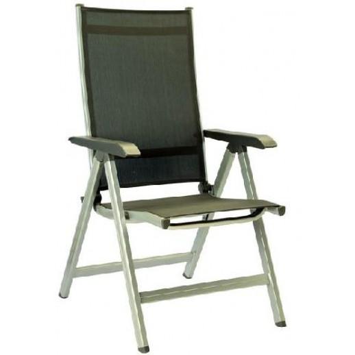 Кресло из металла Basic Plus складное (серебро антрацит) Кеттлер