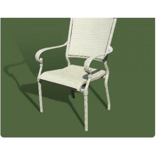 Кресло из металла и текстилена арт.05 (белое с патиной)