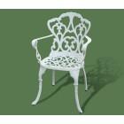 Кресло садовое из металла 192 (белый)