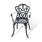 Кресло садовое из металла 192 (бронза)