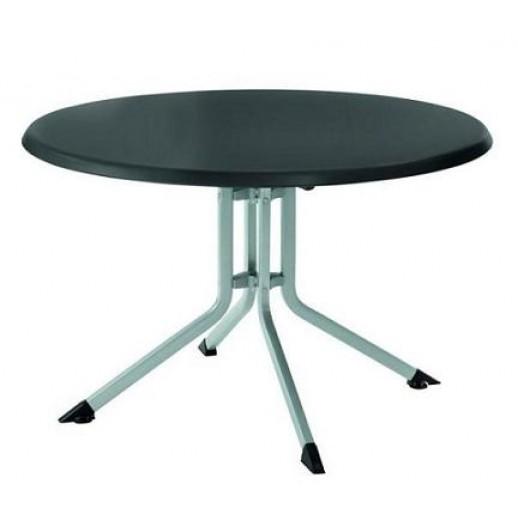 Стол из металла складной Kettalux Plus диам.100 Кеттлер(серебро/антрацит)
