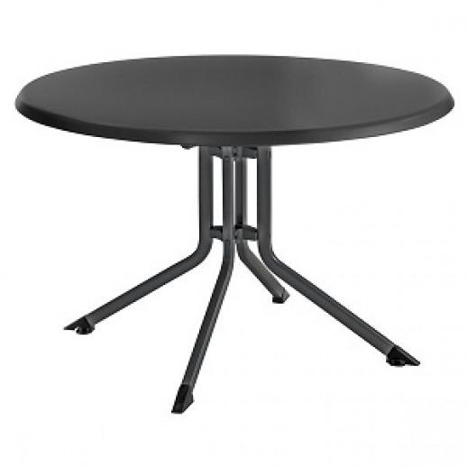 Стол из металла складной Kettalux Plus диам.100 Кеттлер (антрацит/антрацит)