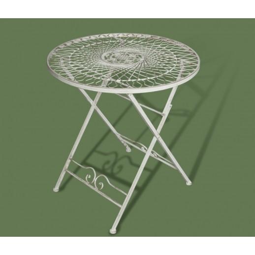Стол из металла складной арт.120635 (белый с золотом)