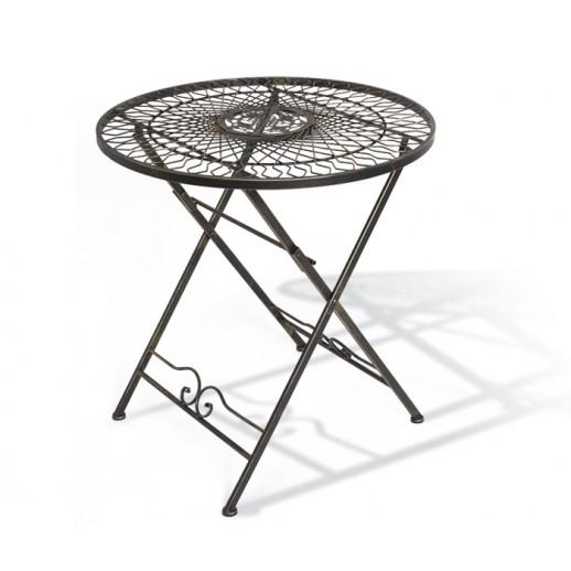 Стол из металла складной 120635 (бронза)
