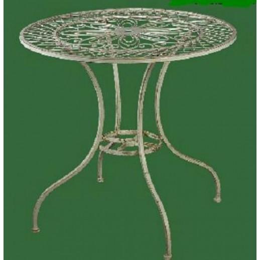 Стол из металла 120096 (белый с золотом)