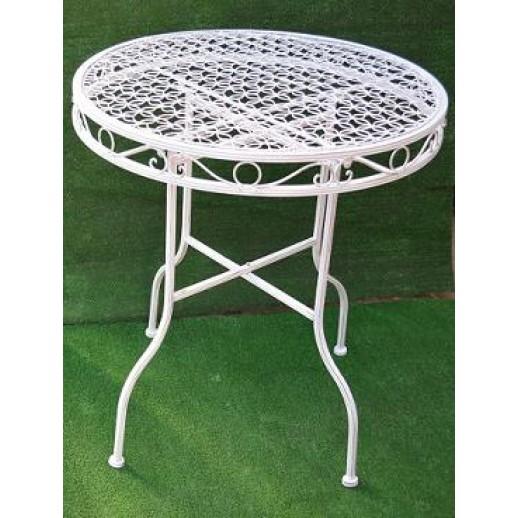 Стол из металла круглый (белый состаренный)