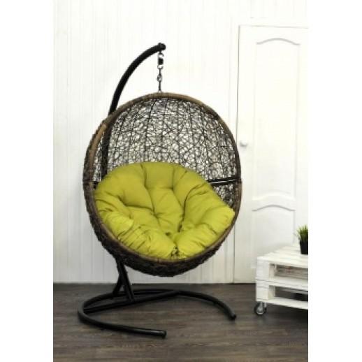 """Кресло подвесное из искусственного ротанга """"Lunar Coffe"""" (коричневое)"""
