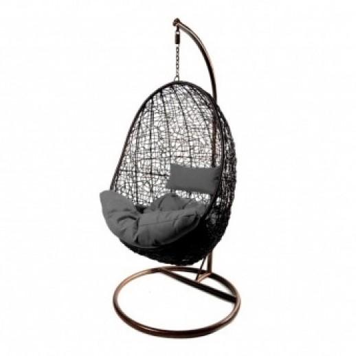 """Кресло подвесное из искусственного ротанга """"Promo-Z-02""""(коричневое)"""