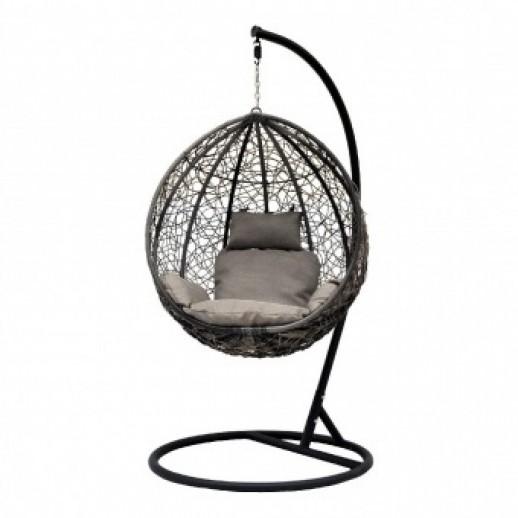 """Кресло подвесное из искусственного ротанга """"Promo-Z-03В""""(коричневое)"""
