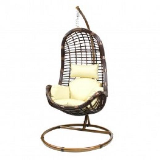 Кресло подвесное из искусственного ротанга КМ-1012