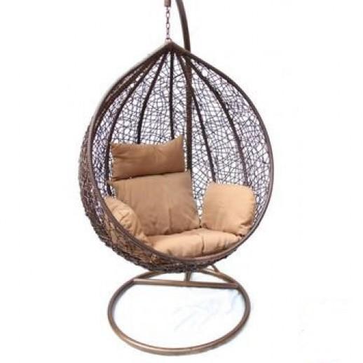 Подвесные качели Derong KM-0001 (средние коричневые)