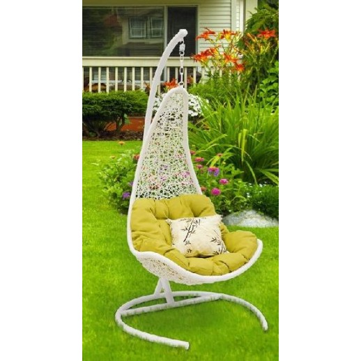 """Кресло подвесное из искусственного ротанга """"Wind wnite"""""""